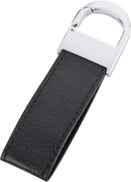Schlüsselanhänger Leder (schwarz)
