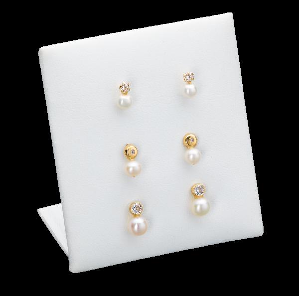 Set aus 3 Ohrsteckerpaaren Perlen CZ 333/-