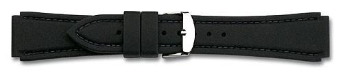 Silikon-Band mit Naht schwarz