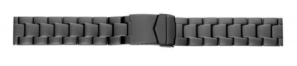 Edelstahlverschlussband massiv PVD-schwarz, matt
