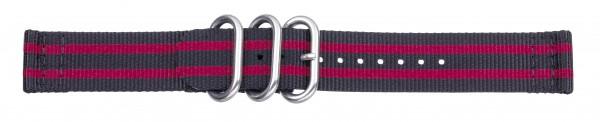 Zulu-Band schwarz / rot