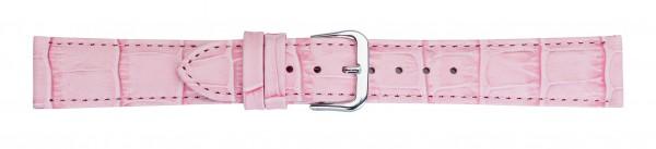 Lederband mit Alligatorprägung rosa
