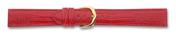 Lederband mit Eidechsprägung rot