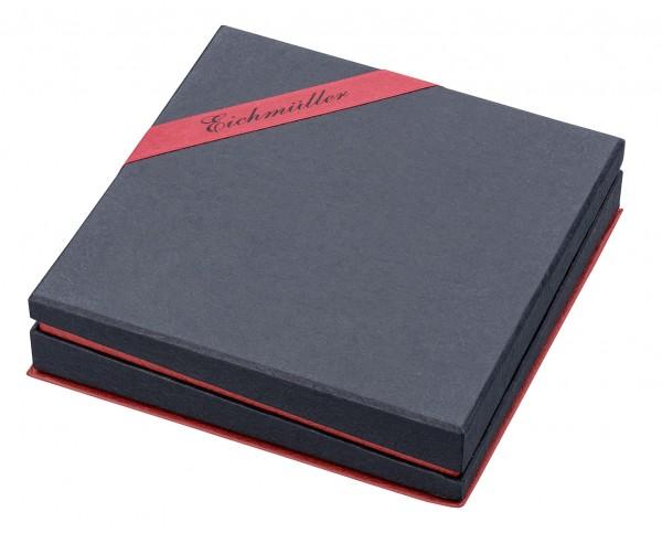 Collierbox schwarz/ rot mit Logo