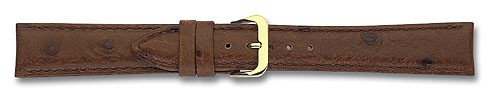 Lederband mit Straußprägung dunkelbraun