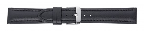 Lederband mit Kamelnarbung schwarz