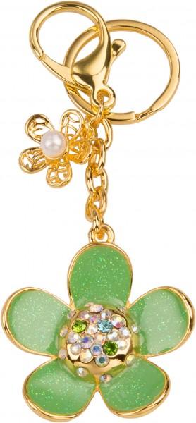 Schlüsselanhänger Blümchen (grün)
