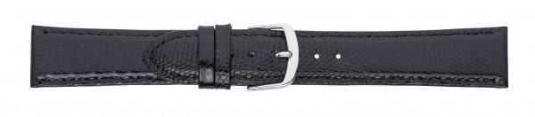Eidechs-Lederband schwarz