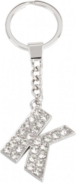 Schlüsselanhänger Buchstabe (K) mit Steinchen