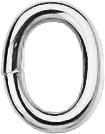 Binderinge oval 3,0x0,6 - silber VE=50