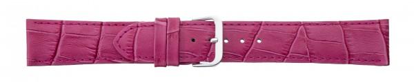 Lederband mit Alligatorprägung pink