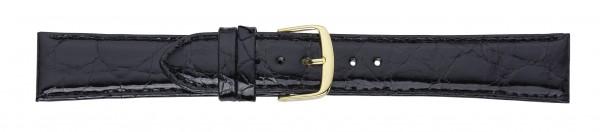 Krokodil-Lederband schwarz