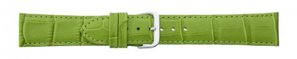 Lederband mit Alligatorprägung grün