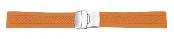 Silikon-Band mit Faltschließe orange