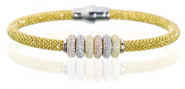 Armband mit mehrfarbigen Charmes,Silber 925/ - ver