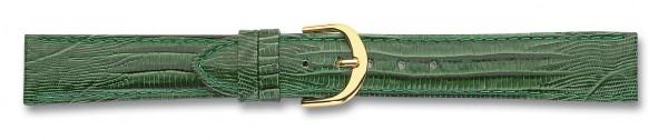 Lederband mit Eidechsprägung grün