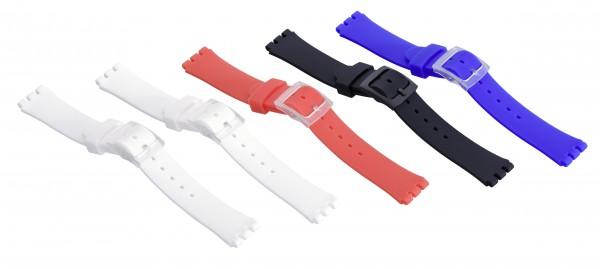 Kunststoffbänder SWT-Uhren, bunt-dick - 5 Stück