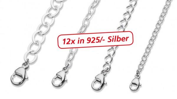 Verlängerungsketten aus Silber 925/- ca 15g
