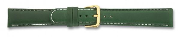 Lederband mit weisser Naht grün