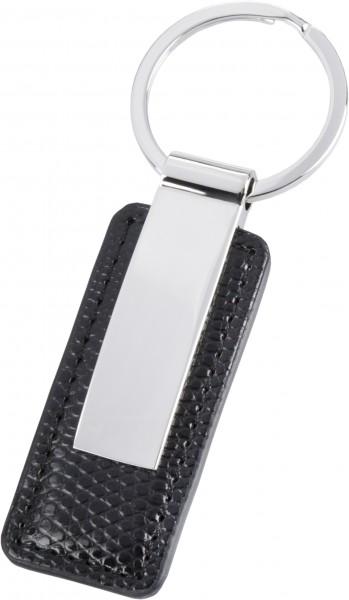 Schlüsselanhänger Lederapplikation (schwarz)