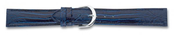 Lederband mit Eidechsprägung blau