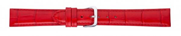 Lederband mit Alligatorprägung rot