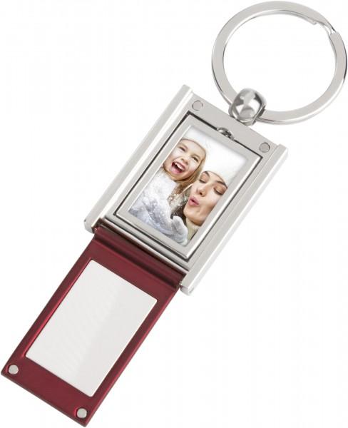 Schlüsselanhänger Foto zum aufklappen (rot)