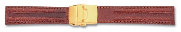 Lederband mit Faltschließe braun
